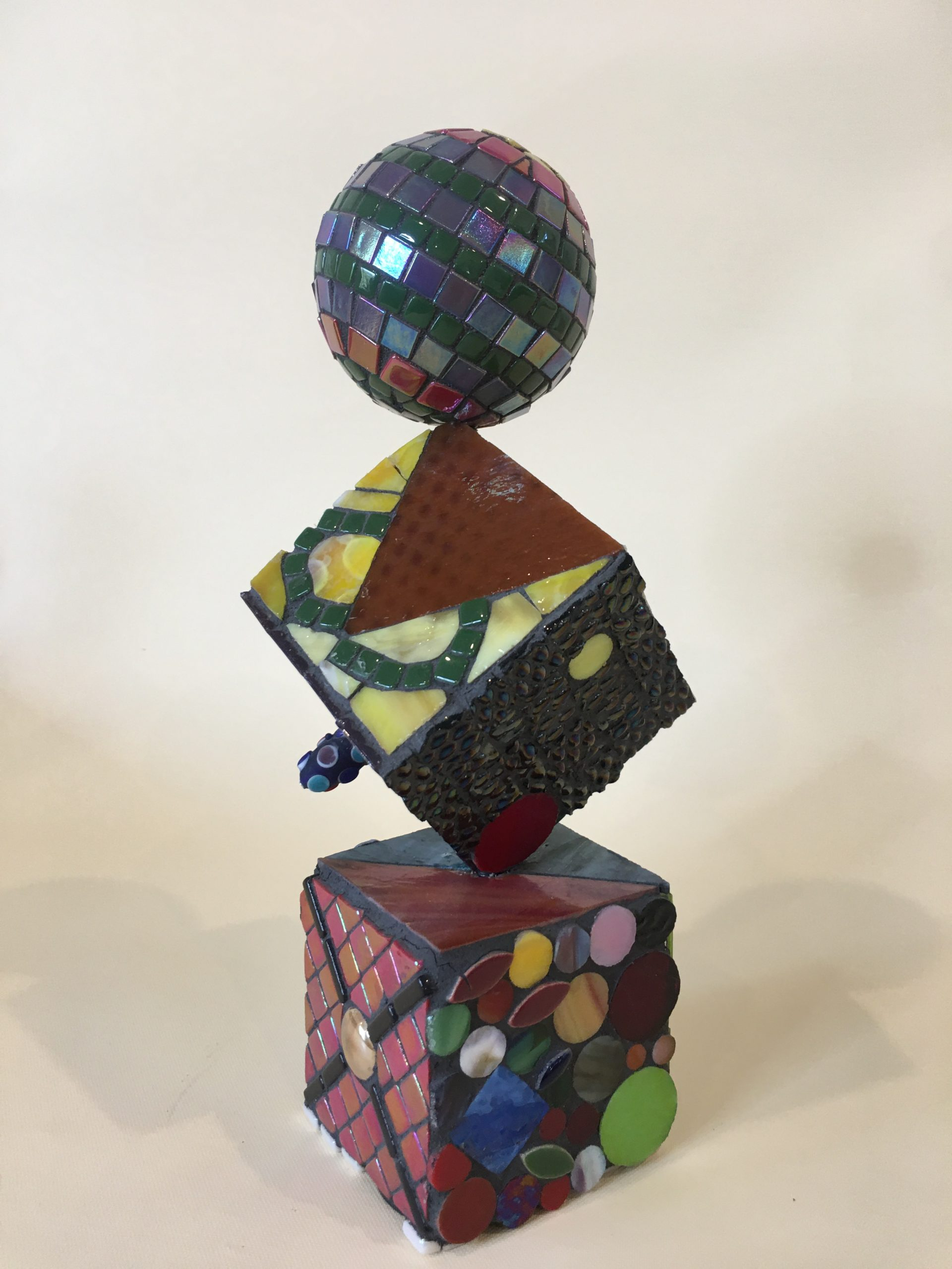 Glass Mosaic over wood sculpture No. 3