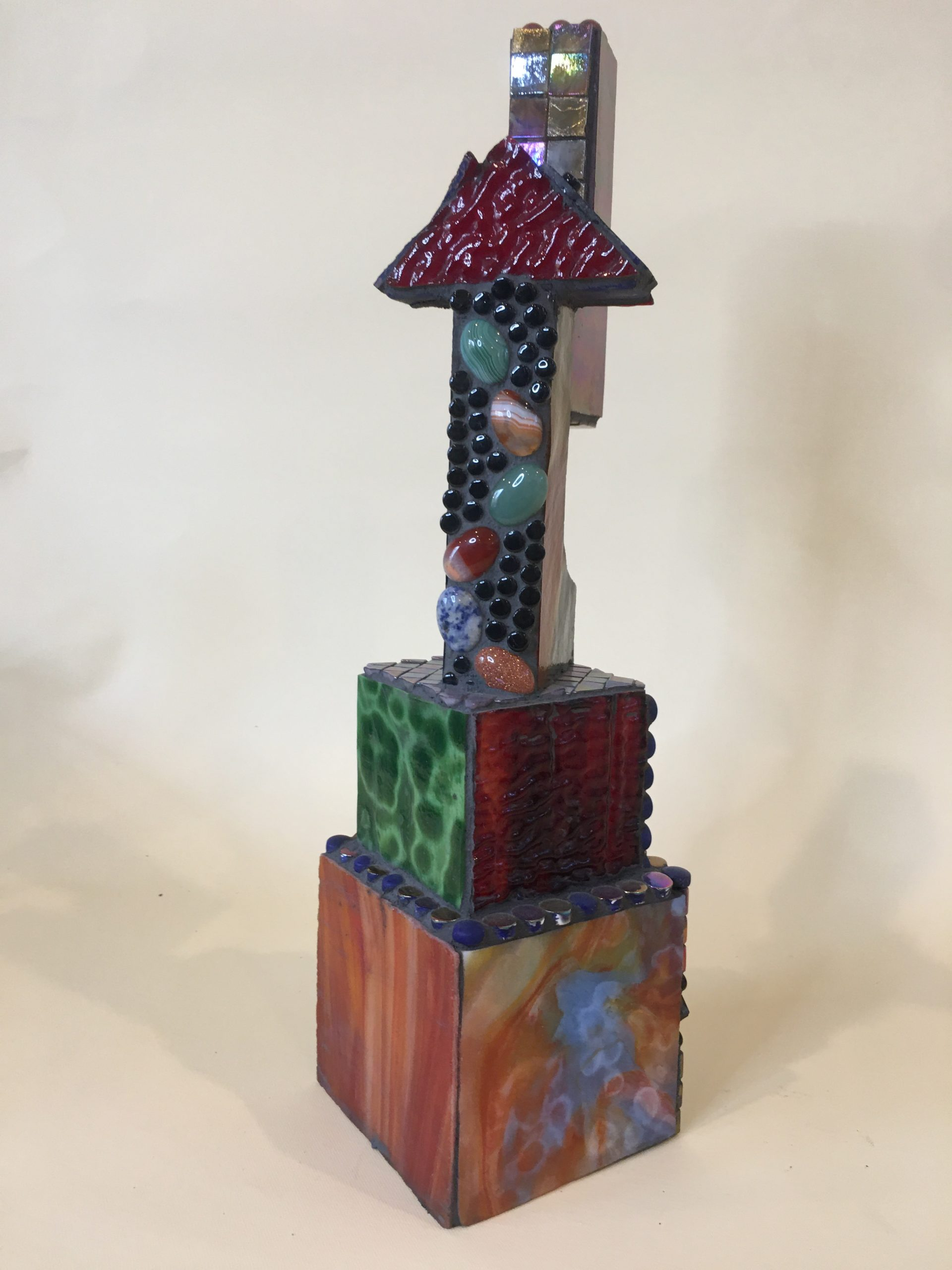 Glass Mosaic over wood sculpture No. 8