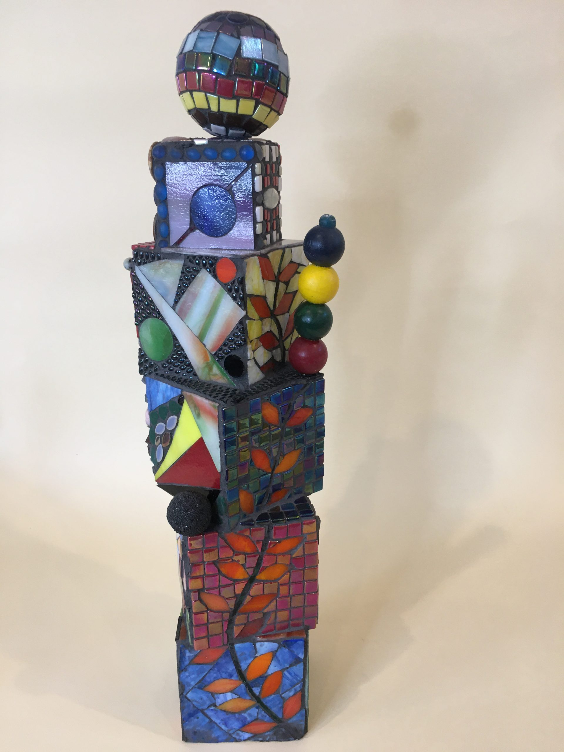 Glass Mosaic over wood sculpture No.9