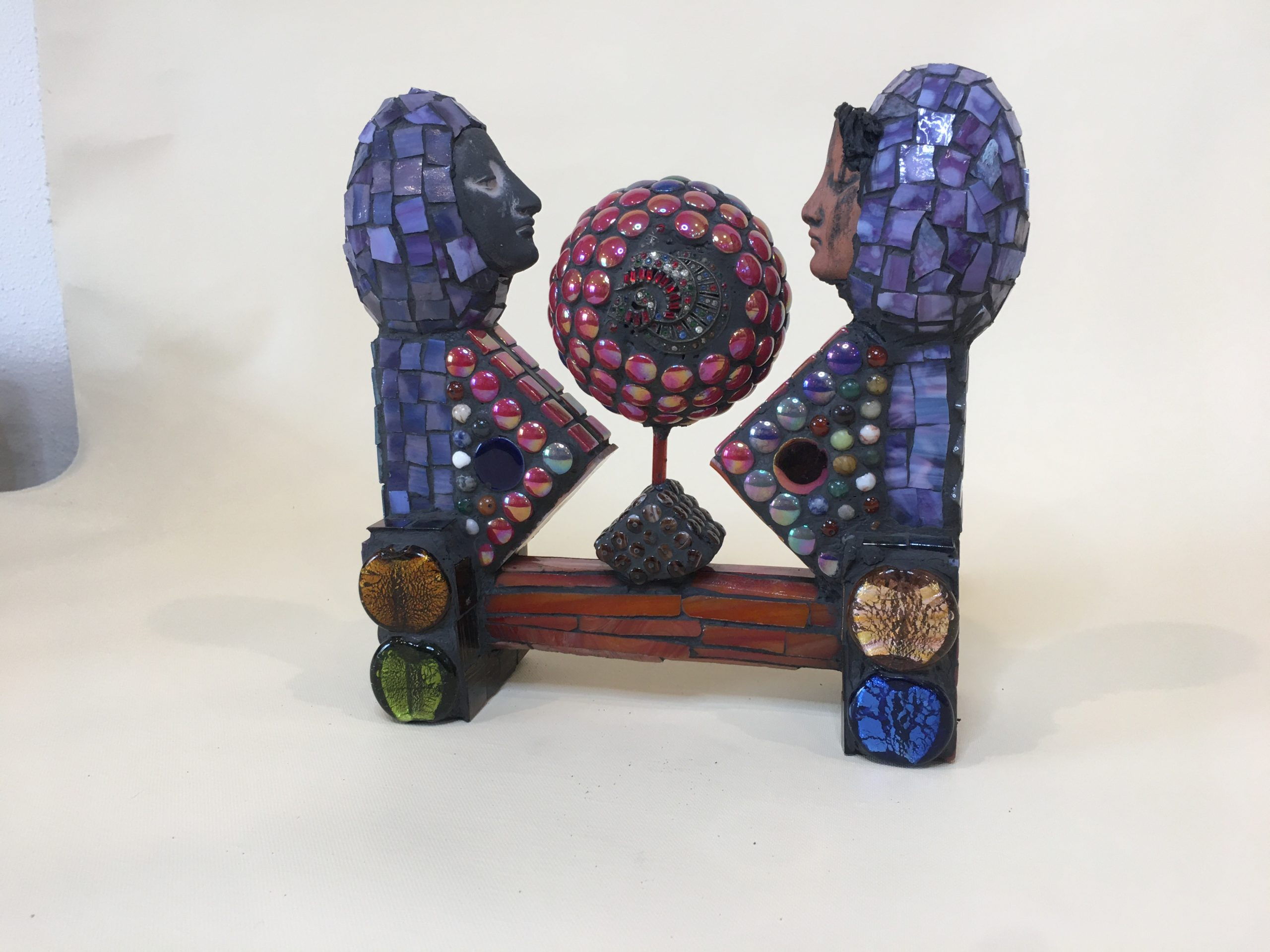 Glass Mosaic over wood sculpture No. 11