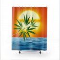 Un'alba Con La Cannabis Shower Curtain