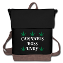 Cannabis Boss Lady Canvas Backpack