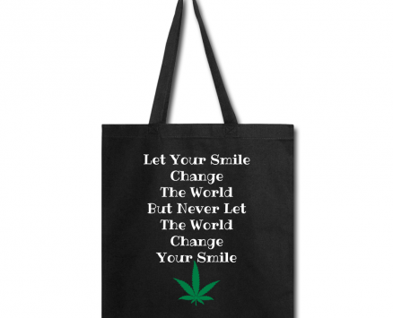 Train Your Mind Cannabis Tote Bag
