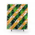 CannaDab Cannabis Shower Curtain