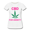 CBD For Anxiety Ladies Organic T-Shirt