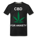 CBD For Anxiety Men's Organic T-Shirt