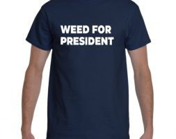 Blue Weed for President T-Shirt