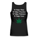 It Takes Time To Heal Ladies Longer Length Fitted Tank