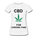 CBD For Chronic Pain Ladies Organic T-Shirt