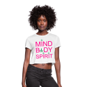 Mind Body Spirit Ladies Cropped T-Shirt