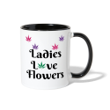 Ladies Love Flowers Contrast Mug