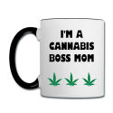 I'm A Cannabis Boss Mom, What's Your Super Power Contrast Mug.