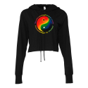 "Limited Edition Yin Yang Women's ""Knowledge Is Power"" Cropped Hoodie"