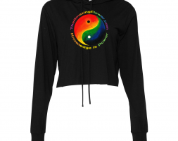 """Limited Edition Yin Yang Women's """"Knowledge Is Power"""" Cropped Hoodie"""